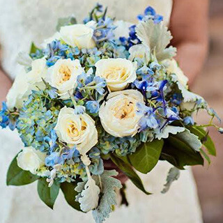 Wedding Bouquet Soft Blues Highlight